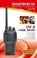 Wholesale Dualband Vhf - Wholesale-DHL freeshipping+2pcs lot BaoFeng 2 Way Radio UV-6 UV 6 dualband vhf UHF 5W FM Transceiver handheld interphone baofeng uv6