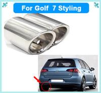 vw scirocco toptan satış-Araba styling için egzoz borusu araba kapakları VW Volkswagen golf 6 golf 7 JETTA Scirocco Sagitar için 1.4 T TSI