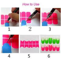 Wholesale Designer Nail Polish - Wholesale-New 2014 BeautyGaGa Professional Supply Personal & Salon designer manicure french nails Polish Gel guide nail art tools407