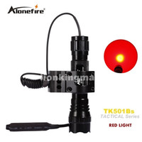 Wholesale Spotlight Led Flashlights - Alonefire 501B Tactical Flashlight led Hunting Torch Spotlight Shotgun lighting +Tactical scope mount+Remote switch