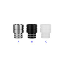 Wholesale very cool - Very Cool Design Stainless Steel Resin 510 Drip Tips SS Black White Wide Bore Drip Tip for 510 EGO Atomizer Mouthpieces RDA Vaporizers
