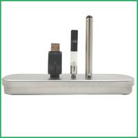 Wholesale tin pens - OEM brand logo CE3 Tin Box Sets the co2 oil Atomizer Electronic Cigarette Kit USB bud touch vape o pen Battery Pole Fog