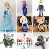 Wholesale Dolls For Children Girls - Retail 2015 Frozen Childhood Elsa Anna 30cm 40cm 50cm Kristoff 50cm Olaf 30cm Trolls 25cm Sven Stuffed dolls cartoon plush toys for children