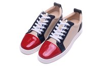 Wholesale Drill Ends - High-end luxury brand low help mixed color drilling nail-toe shoes, leather shoes, leather shoes size 36-46