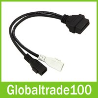 Wholesale 2x2 Obd2 Adapter - VAG 2x2 to OBD2 OBDII 16 Pin Adapter Cable Connector For Audi Diagnostic Tools Free DHL Shipping