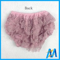 Wholesale Toddler Petti Ruffle Shorts - Wholesale-12PCS Global Free Shipping Toddler Baby Petti Bloomer Girls Diaper Covers Ruffled Lace Bloomer Summer Girl Lace Bloomer