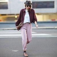 Wholesale Women S Short Coats - 2015 Fashion New Women Lapel Jacket Ladies Solid Color Casual Outwear Autumn Zipper Short Design Coat Plus Size S-XL Femininas FG1511