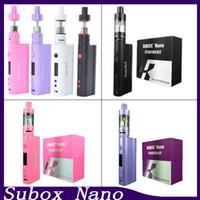 Wholesale E Cigarette Starter Kit Kanger - New kanger subox nano Starter Kit Kbox nano 50W E cigarette 18650 Mod Subtank nano 3mL OCC Sub ohm e Cigarette DHL Free 0266020