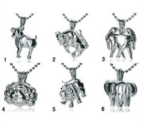 Wholesale Zodiac Sign Wholesale - 18KGP Fashion Signs of Zodiac Pendant Mountings, Twelve Constellations style Pearl  Gem Beads Cage Lockets DIY Lucky Charm Jewelry No.1~No.6