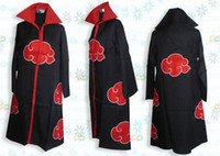 Wholesale naruto cosplay online - Anime Costumes Unisex cape Naruto Akatsuki The eagle group Cosplay Cloak Size XS XXL