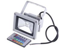 rgb led inundaciones controladas al por mayor-Nuevo LED de 10W RGB LED Reflectores RGB Color cambiando hacia fuera Luces de inundación led Luces impermeables IP65 Led jardín AC 85-265V + Control remoto