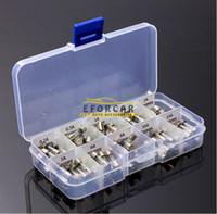 Wholesale Wholesale Glass Automotive Fuses - Auto Glass Fuse Tube 5 X 20 mm Automotive Car Motorcycle SUV FUSES Kit Via Free Shipping