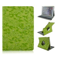 Wholesale wholesale printing ipad covers online - 360 Degree Rotating Grape Grain Pattern PU Leather Case For iPad Mini iPad inch Smart Cover Stand Flip