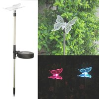 Wholesale Dragonfly Color Change Solar Light - IP44 Garden RGB Color Changing Solar Butterfly Stake Lights Solar Energy Lamp, Bird, Dragonfly, Butterfly Outdoor Lightstrings Decoration Li