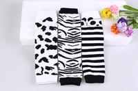 Wholesale legging stocking kids - Baby Leg Warmer Baby Knee Pads Zebra Panada Kids Leg Warmers Kneecap Stocking Legwarmers 20 p