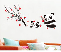 Wholesale Blossom Baby Bedding - New Arrival DIY Lovely Baby Panda Wall Sticker Decor&Cherry Blossom Decal Art Vinyl removable wall decals for kids bed room