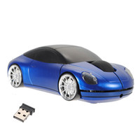 Wholesale Top Quality Notebooks - Wholesale- Brand New Top Quality Blue 3D Car Shaped 2.4G Wireless 1600DPI USB Car Shaped Optical Mouse Mice For Computer laptop Notebook