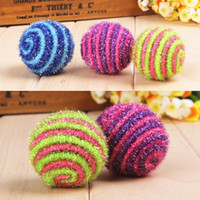 Atacado-1PC Pet Assorted Colorful Cat Toy Ball Gato Sisal Rope Weave Chew Toy Stretch Tail Gift HOME Drop Shipping