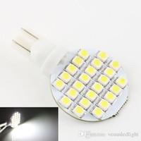 Wholesale 12v 921 Light Bulb - car led dome light T10 921 194 24 3528 SMD LED Bulb lamp RV LED corn light bulb white DC 12V