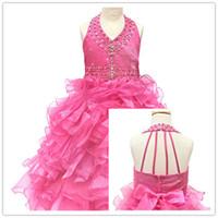 ingrosso gonna di fleabane-Flower Girl Dresses Bitter Fleabane Amaro Fleabane amatoriale Gonna Princess Dress Custom Fold Gonna Bowknot Candy Flower Dress