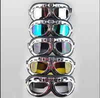 Wholesale Helmet Ibk - Wholesale-Top quality Motorcycle helmet glasses goggles windproof glasses ibk halley helmet glasses multicolor 50pcs