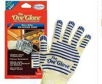 oven eldiven ove toptan satış-Ove Eldiven Fırın Eldiveni Sıcak Yüzey Handler 5-finger Mikrodalga Fırın Eldivenleri Kaymaz Silikon Kavrama ısı direnci eldiven pişirme BARBEKÜ Araçları
