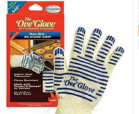 Wholesale hot surface gloves resale online - The Ove Glove Oven Mitts Hot Surface Handler finger Microwave Oven Gloves Non Slip Silicone Grip heat resistance gloves cooking BBQ Tools