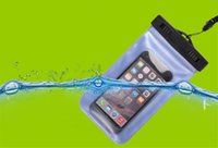 Wholesale Clear Waterproof Cases Galaxy S4 - Waterproof Pouch Universal Phone Bag Clear Transparent Swim Diving Case Cover For S6 iPhone 6 Galaxy S5 S4 Note 4 With Free DHL