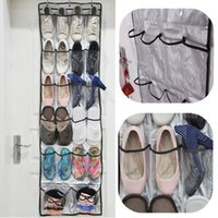 Haute Qualité 22 pochettes transparentes superposées portes suspendues Shoe rack Baseroom Salon Storage Bag Hanger stockage Tidy Organizer A5