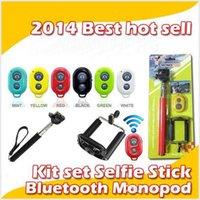 selbst-timer ausziehbares handheld-bluetooth großhandel-Universal erweiterbar Handheld Selbstporträt Einbeinstativ Selbstauslöser Foto Bluetooth Shutter Kamera Fernbedienung Combo MQ10