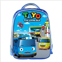 Tayo Bus Blue School Bags para adolescentes Cartoon Backpack Cars 13inch 3d Printing Boys Girls Kids Kids School Bag