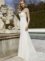 Wholesale Sleek Sexy Dresses - Delicate Backless Lace Wedding Dresses Spaghetti Sweetheart Neckline Sleek Bridal Dresses Romantic Custom Made Bridal Gowns
