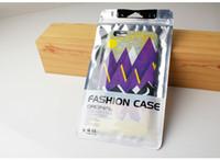 ingrosso copertura zip iphone-100 pezzi di sacchetti di plastica per imballaggio di design personalizzato per la copertura in pelle sacchetti di cerniera per smartphone per iPhone 7 Plus X Nota 8
