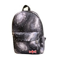 Wholesale Travel Bags British Flag - Unisex Stars Universe Space printing backpack Travel sport bag School Book Backpacks British flag Stars bag for boy girl wholesale DHL