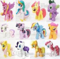 Wholesale Pvc Figures Little Pony - Wholesale-6pieces   set little pvc Action Toy Figures Hobbies ponies Princess Celestia luna Unicorn plush doll - Rarity kunai