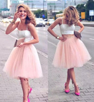 Wholesale Inexpensive Vintage Lighting - Amazing All Match Party Tutu Dresses Cheap Custom Made Bust Skirts Ivory Blush Black Champagne Bridesmaid Gown Inexpensive Informal Wear