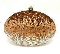 Wholesale Multi Colour Leather Case - HK crystal bag bling diamond evening bag party clutch metal cosmetic case jewellery box wedding gift bag multi colour option ODM welcome