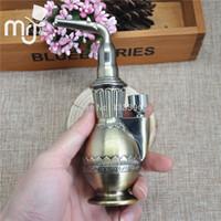Wholesale vaporizer machine resale online - 1pc MINI water smoking pipe copper jamaica smoking pipe tobacco herb grinder rolling machine vaporizer