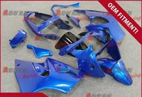 Wholesale Kawasaki Ninja Blue Paint - Sky blue and black custom painted injection molded fairing Kawasaki Kawasaki Ninja ZX6R 2000-2002 49