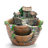 bitki kutusu tasarımları toptan satış-Yeni Tasarım Reçine Bahçe Kaktüs Etli Bitki Pot Herb Çiçek Ekici Kutusu Kreş Tencere Ev Odası Dekoru Süs Bahçe Aletleri