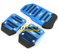 Wholesale Wholesale Car Pedal Covers - New 3pcs set Non-Slip Aluminum Car Pedal pad Covers Car Gas Clutch Brake And Accelerator Pedal Pad Covers Car Accessories