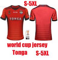 Wholesale Factory Big Man - 2017 2018 World Cup NRL Jersey Tonga rugby shirt Tonga s-5Xl rugby jersey big size 5XL factory wholesale size S-5XL