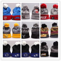 Wholesale Knit Beanies For Men - Good Design 2017 Arrival Cleveland Beanie Basketball Knit Hats Sport Beanies For Men and Women Knitted Warm Outdoor Caps