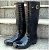 Wholesale Rubber Field - Rain Boot Original Tour Women`s Balck Norris Field Buckle Winter Rain Boots Ms.glossy Waterproof Wellies Boots Pink Army