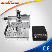 Wholesale Cnc Engravers Routers - cnc wood router 6040 1500W four 4 axis engraver engraving milling machine desktop with limit switch(with auto-checking tool)