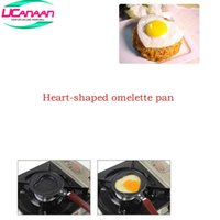 Wholesale Mini Fry Pan Lid - Wholesale-UCANAAN Kitchen Tool Mini Valentine's Heart Shaped Omelette Omelet Egg Frying Pan Non-Stick with Lid Cover