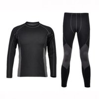 Wholesale Thermal Underwear Bike - Wholesale-2015 New Men's Cycling Bike Sports Camping Hiking Thermal Underwear Clothing