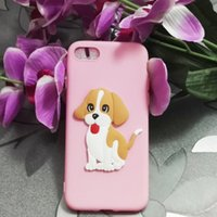 Wholesale Iphone5 Cases Black Silicone - TPU soft case for iphone5 5s SE lovely cute cartoon pet dog puppy silicone shockproof protector