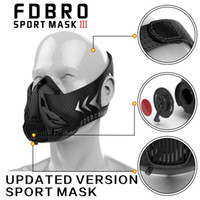 Wholesale pink workout - FDBRO Sports Mask Fitness Workout Running Resistance Elevation Cardio Endurance Mask For Fitness Training Sports Mask Free Shipping