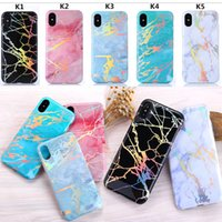 Holo Chrome Marble Case para iPhone X 7 8 Plus 6 6s Luxo Glitter Soft TPU Cover para iPhone X Cases